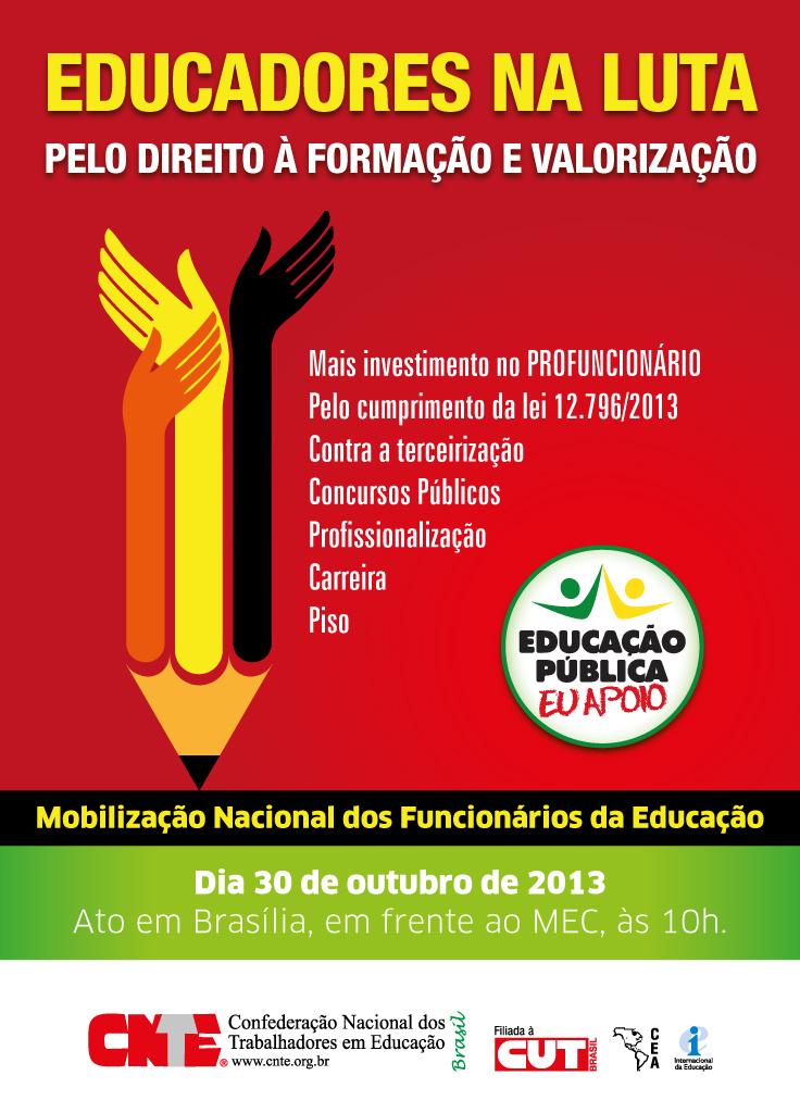 mobilizacao nacional dos funcionarios de educacao cartaz web