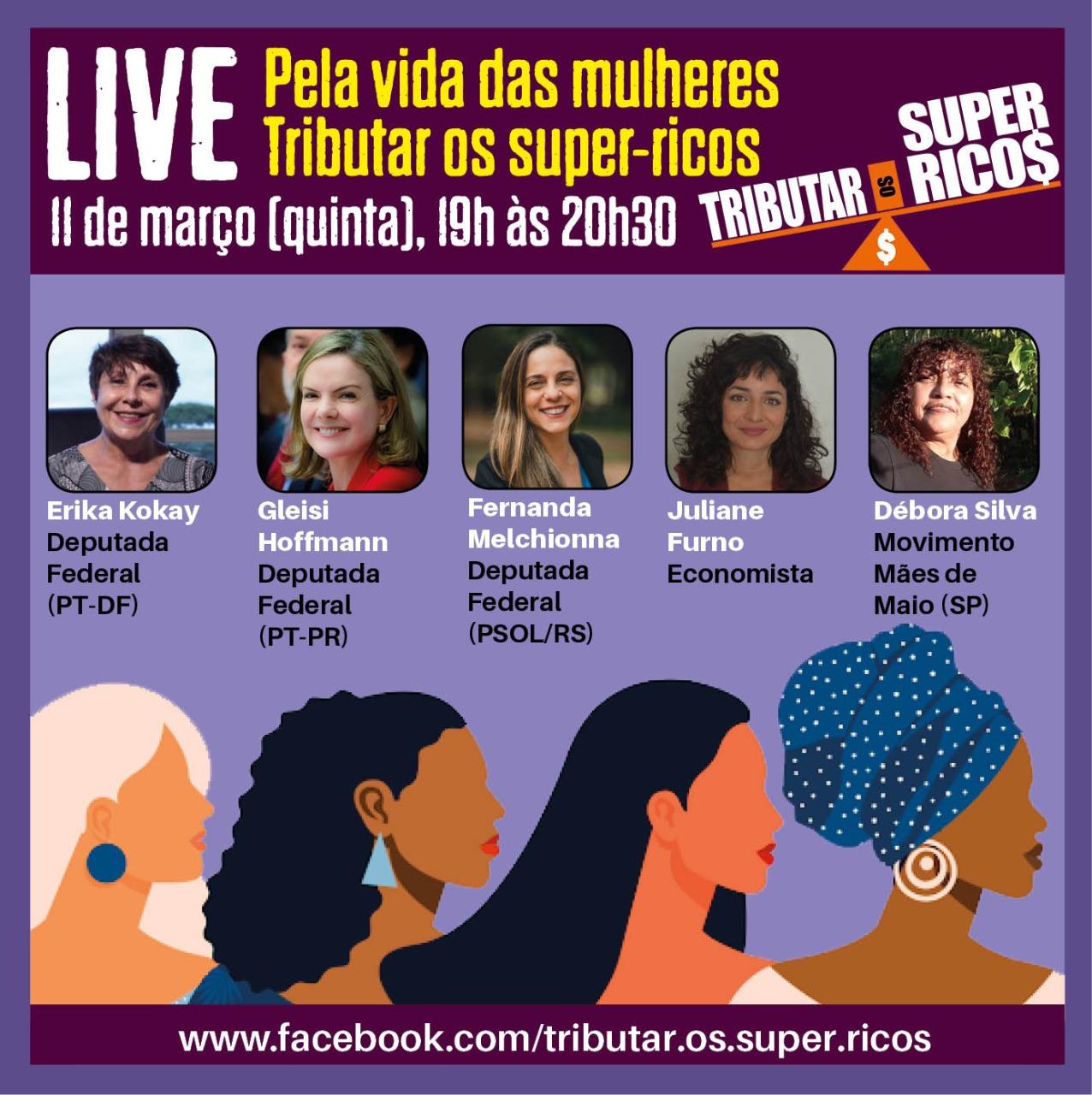 2021 03 05 live pela vida mulheres tributar