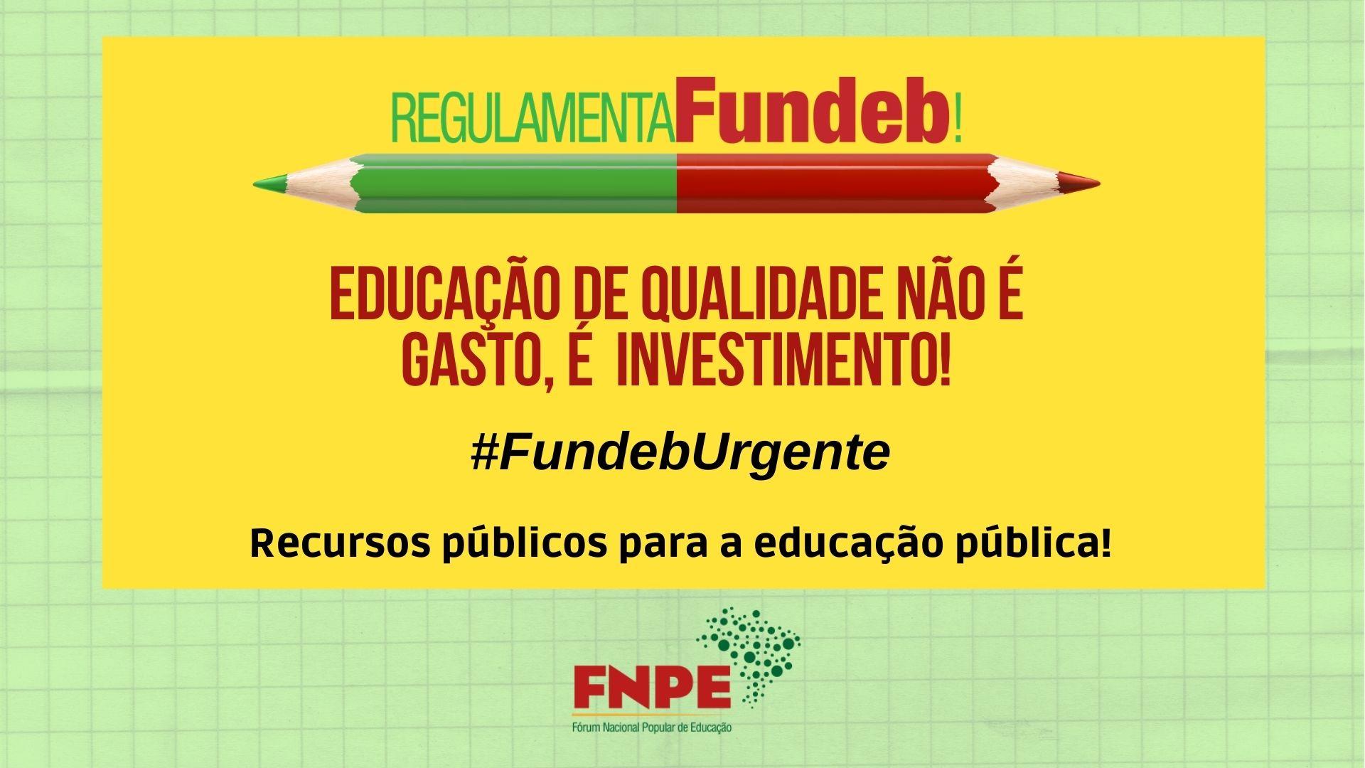 fundeb urgente dez 2020 educacao qualidade twitter
